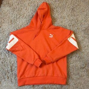 Puma Hoodie Bright Orange. Size 0.